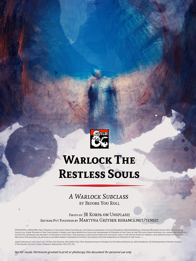 Warlock Pact with Restless Souls Cover