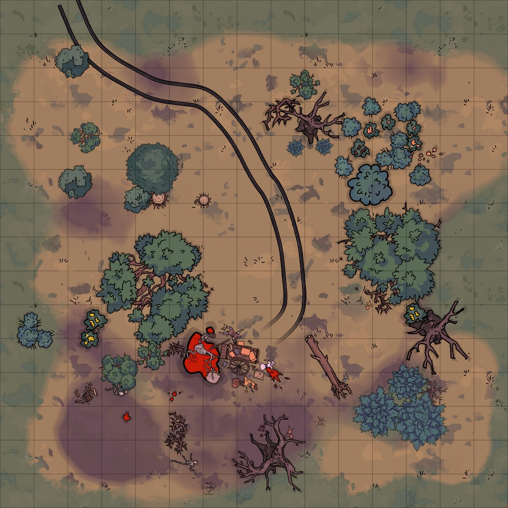 D&D Swamp Battle Map with Shambling Mound Preview