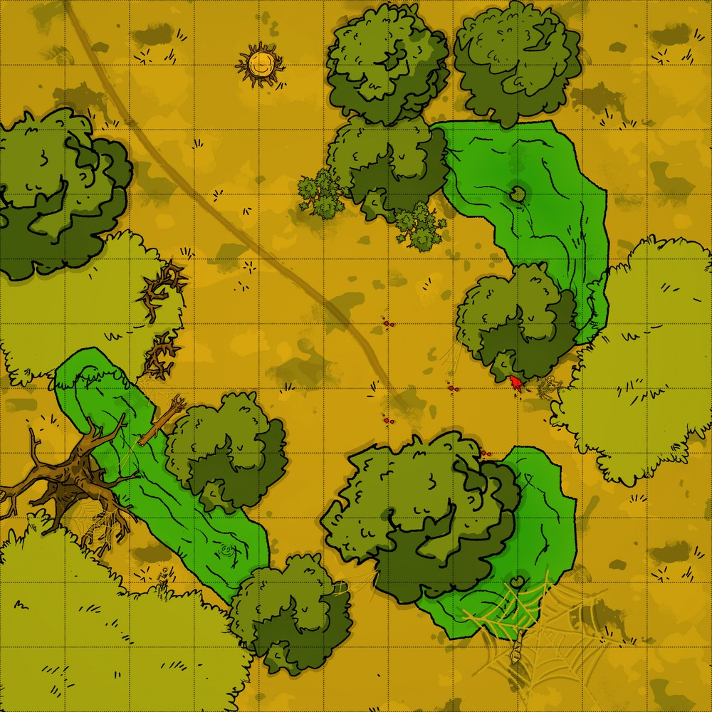 D&D Swamp Battle Map with Spider Preview