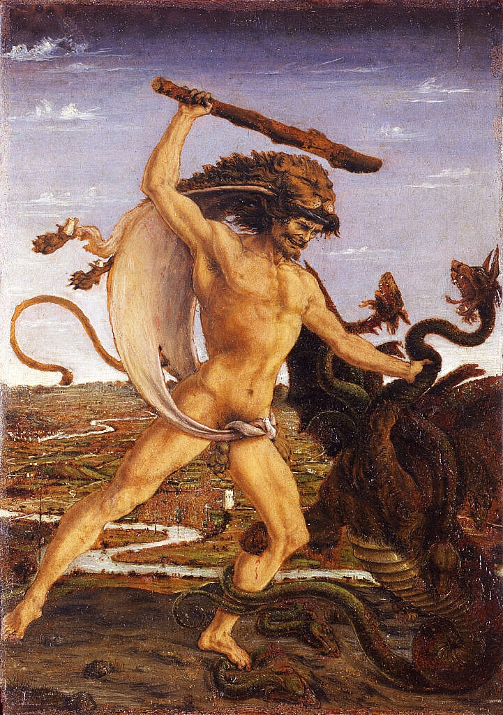 Hercules fighting Hydra