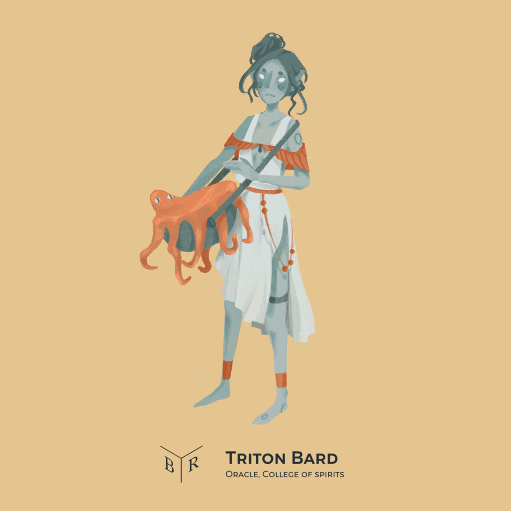 Triton Bard in Theros DnD Campaign